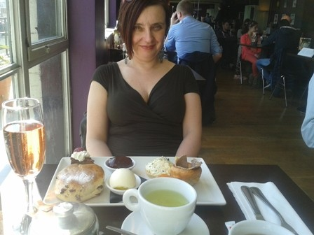 One of my favourite places to meet clients in London: enjoying afternoon tea at watersones, Piccadilly